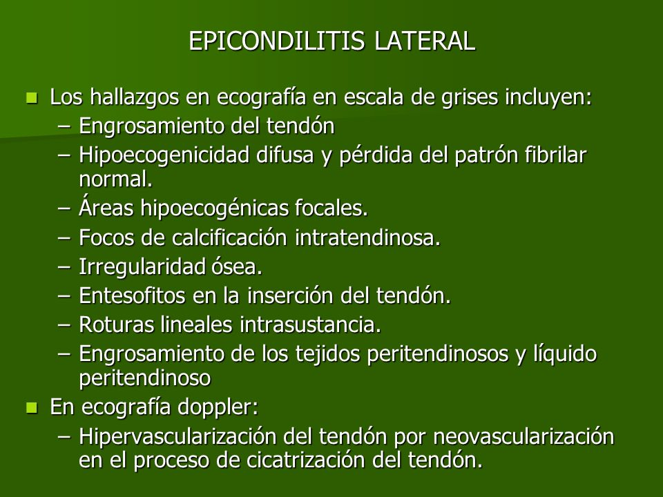 EPICONDILITIS LATERAL