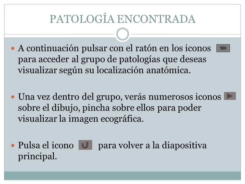 PATOLOGÍA ENCONTRADA