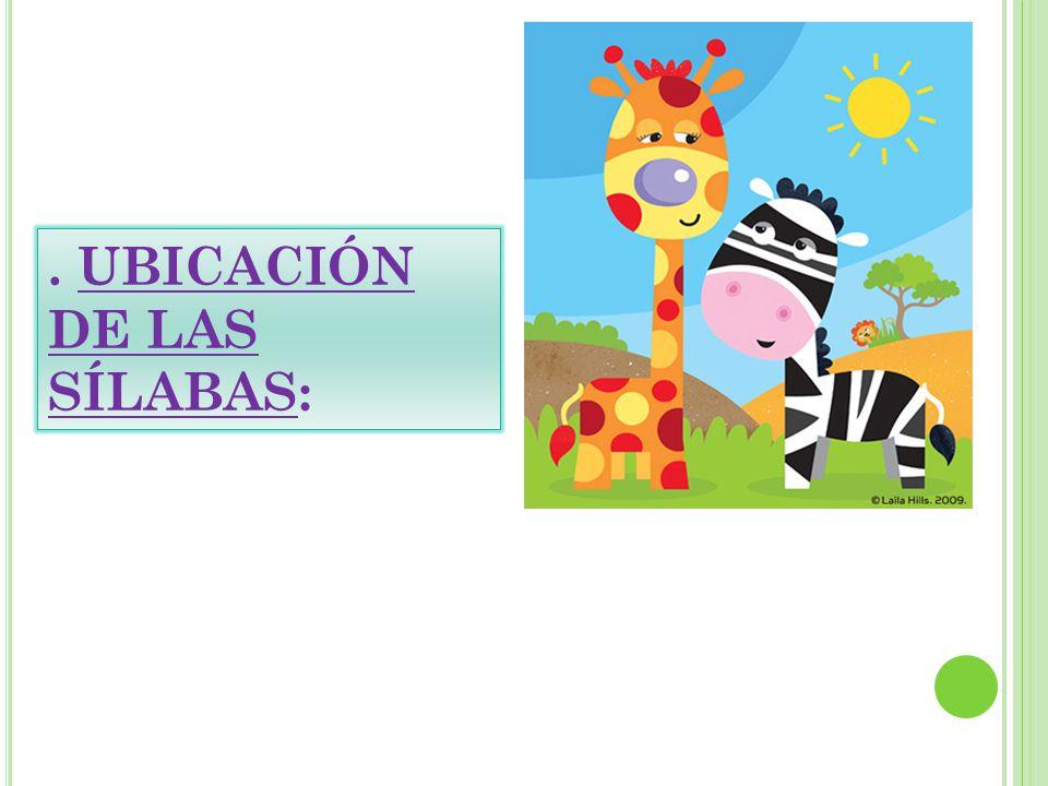 . UBICACIÓN DE LAS SÍLABAS: