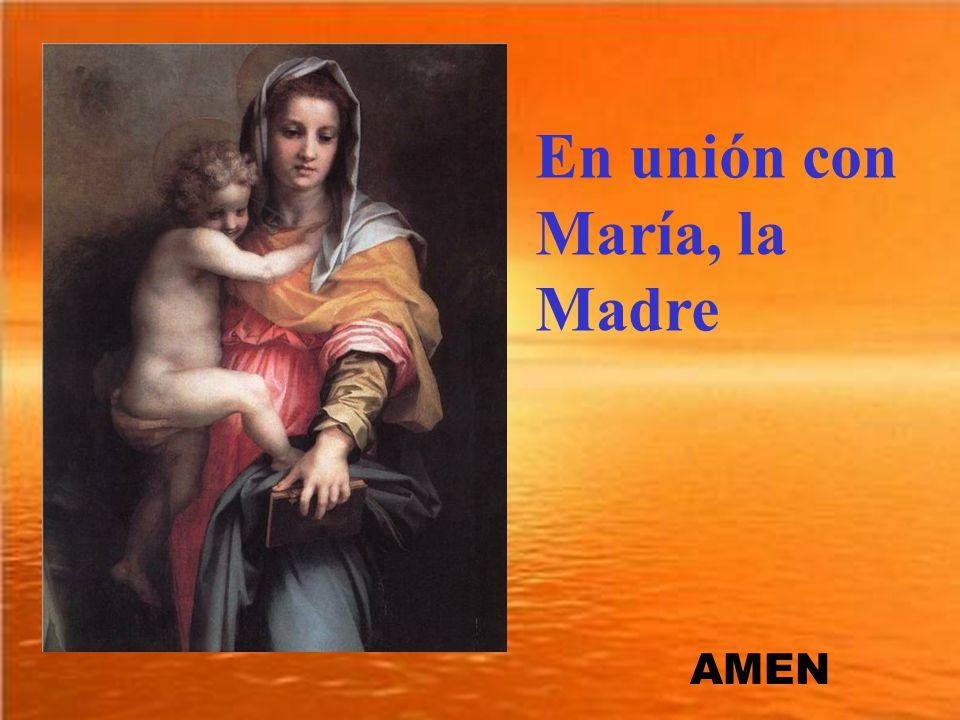 En unión con María, la Madre