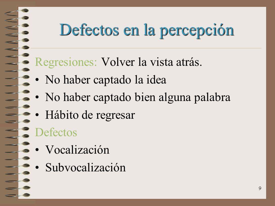 Defectos en la percepción