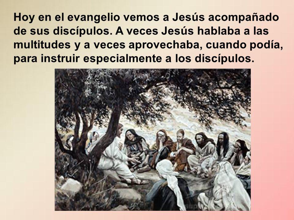 Hoy en el evangelio vemos a Jesús acompañado de sus discípulos