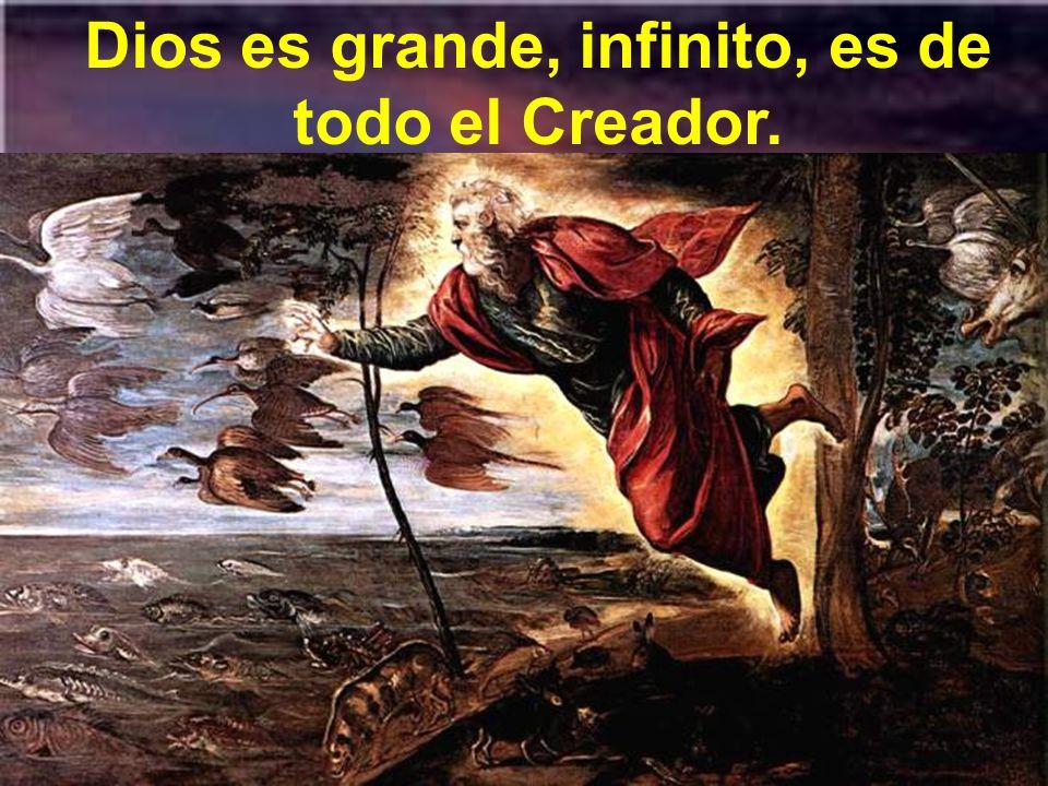 Dios es grande, infinito, es de todo el Creador.