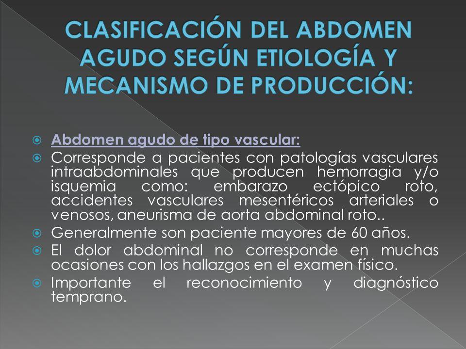 Abdomen agudo de tipo vascular:
