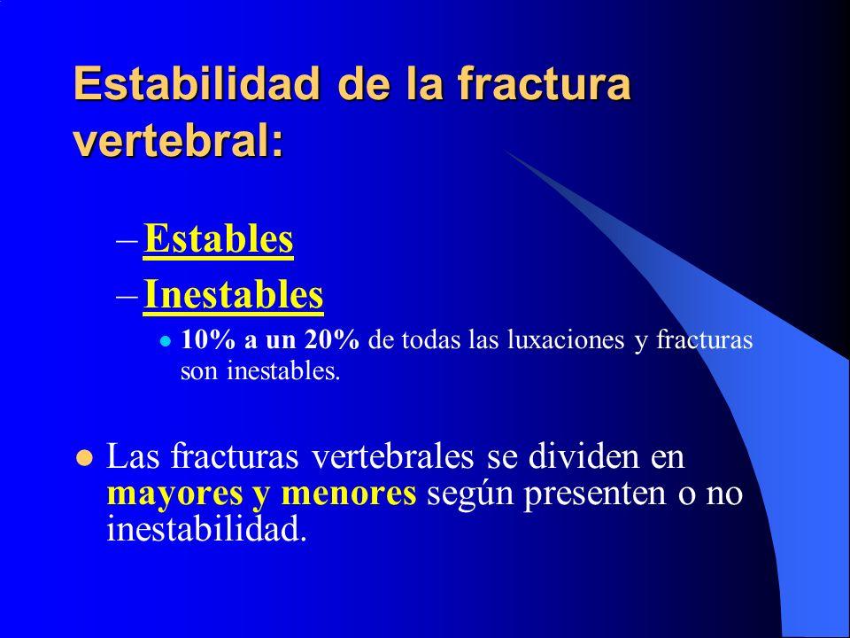 Estabilidad de la fractura vertebral: