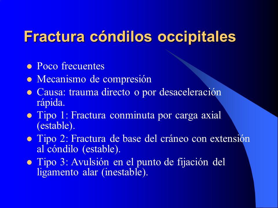 Fractura cóndilos occipitales