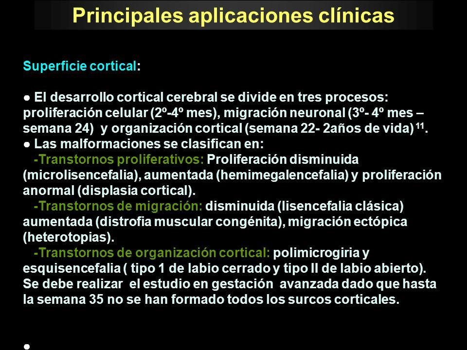 Principales aplicaciones clínicas