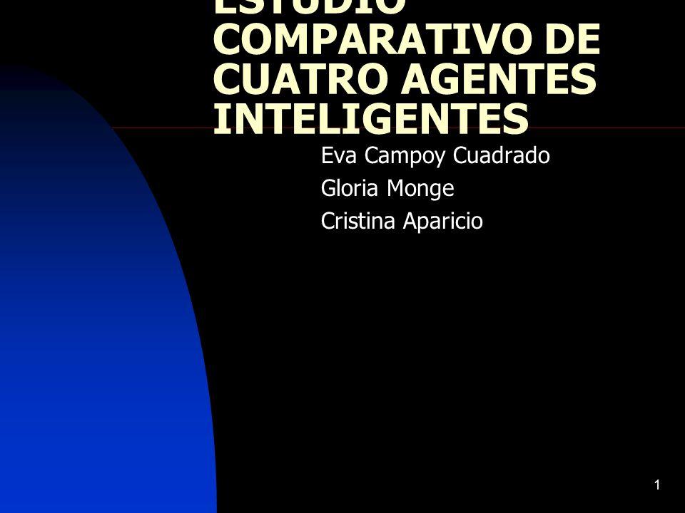 ESTUDIO COMPARATIVO DE CUATRO AGENTES INTELIGENTES