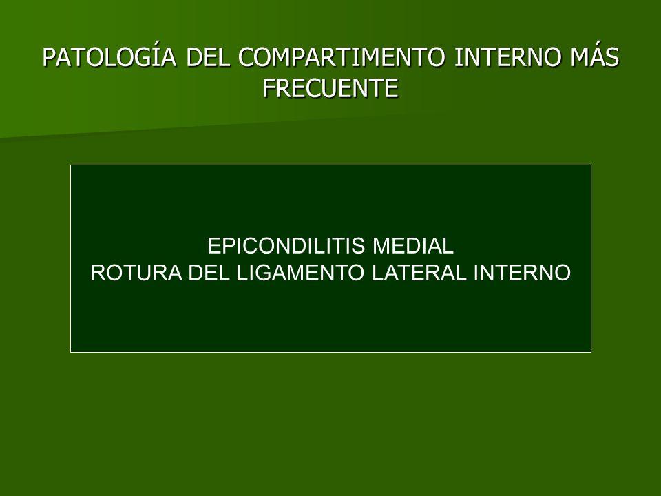 PATOLOGÍA DEL COMPARTIMENTO INTERNO MÁS FRECUENTE