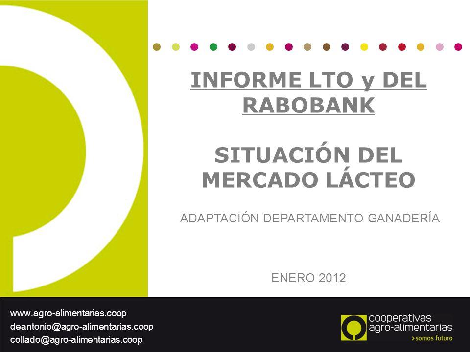 INFORME LTO y DEL RABOBANK SITUACIÓN DEL MERCADO LÁCTEO