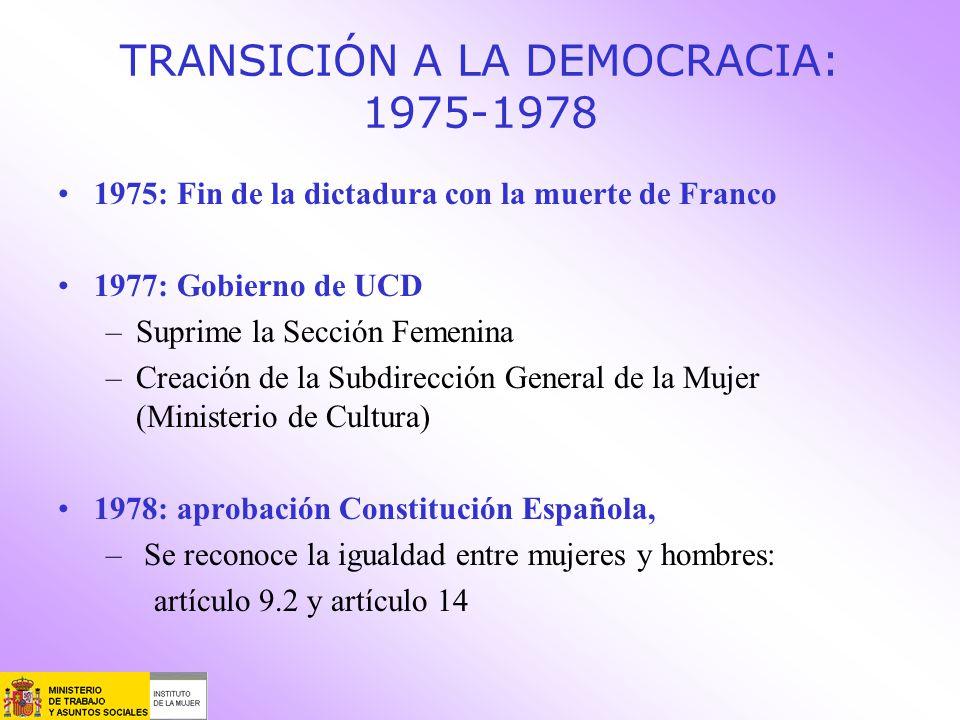 TRANSICIÓN A LA DEMOCRACIA: 1975-1978