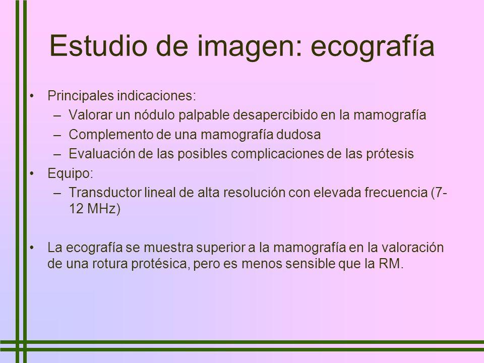 Estudio de imagen: ecografía