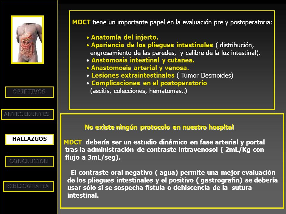 MDCT tiene un importante papel en la evaluación pre y postoperatoria: