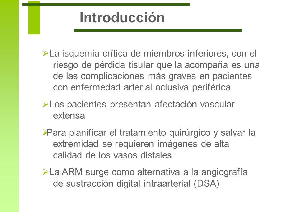 Introducción La isquemia crítica de miembros inferiores, con el