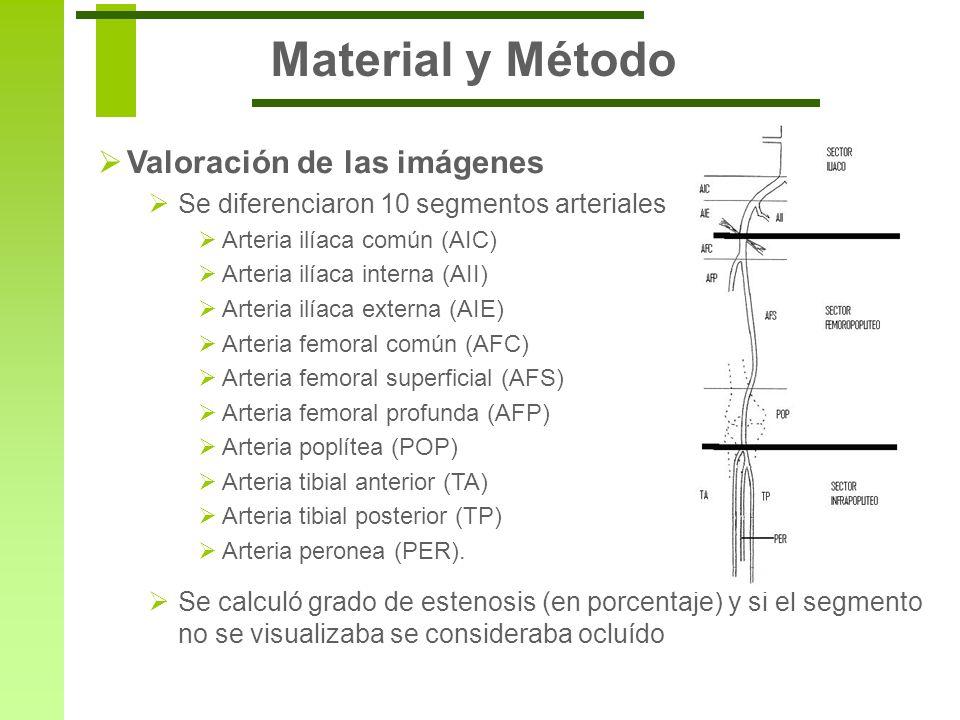 Material y Método Valoración de las imágenes