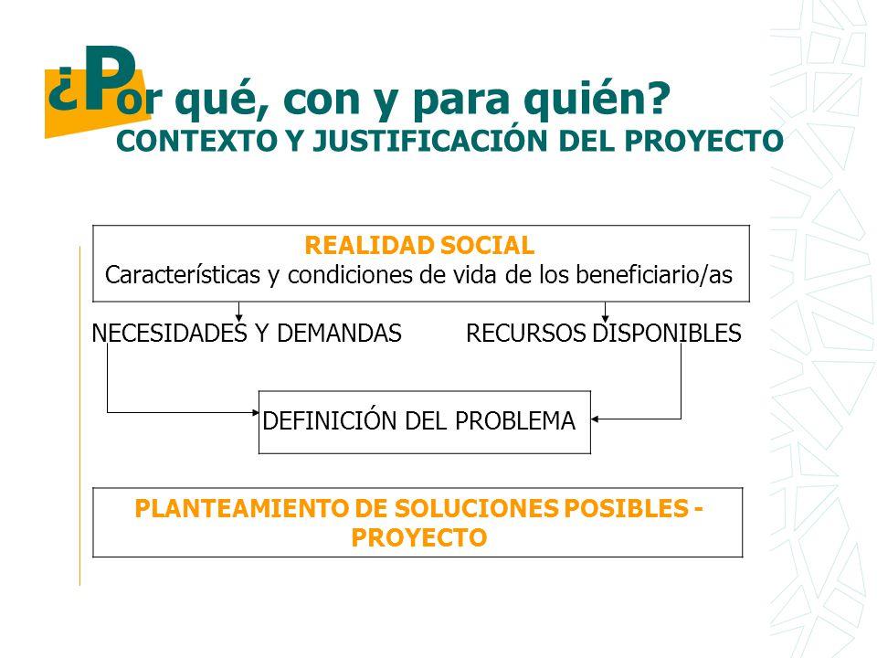 PLANTEAMIENTO DE SOLUCIONES POSIBLES - PROYECTO
