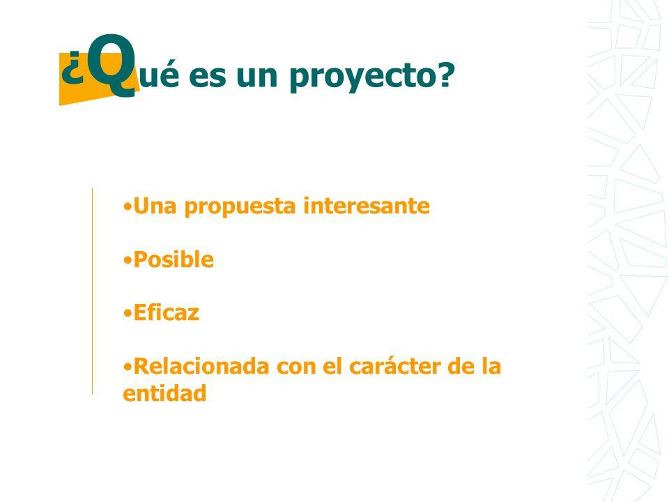 ¿Q ué es un proyecto Una propuesta interesante Posible Eficaz