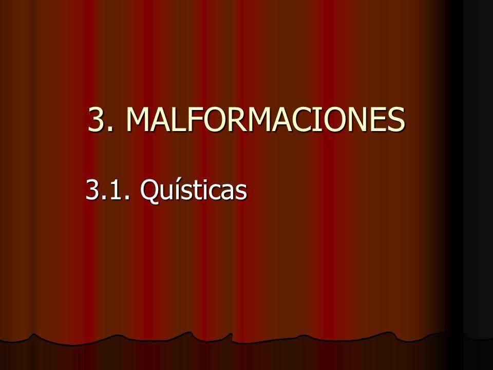3. MALFORMACIONES 3.1. Quísticas