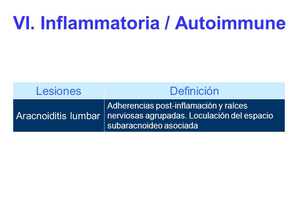 VI. Inflammatoria / Autoimmune