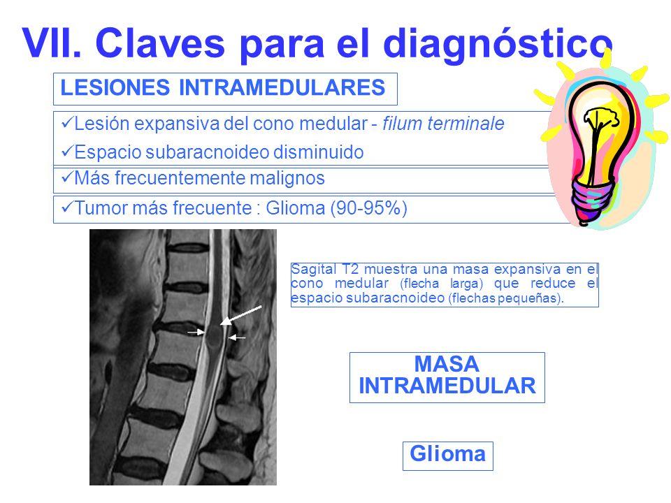 VII. Claves para el diagnóstico