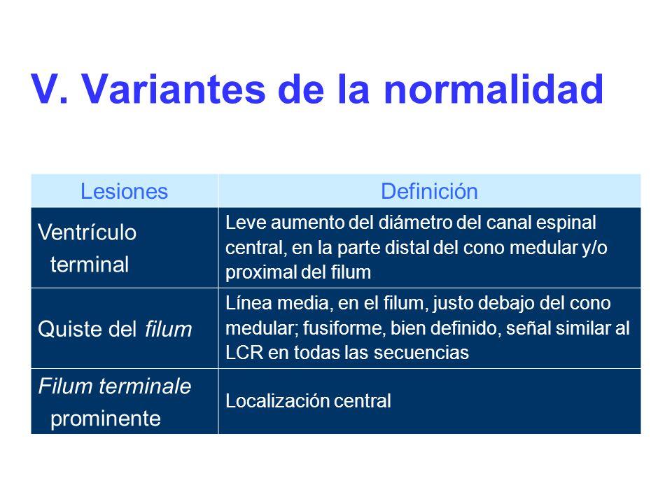 V. Variantes de la normalidad