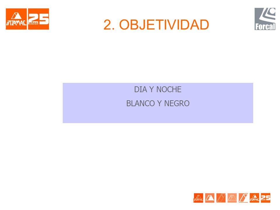 2. OBJETIVIDAD DIA Y NOCHE BLANCO Y NEGRO