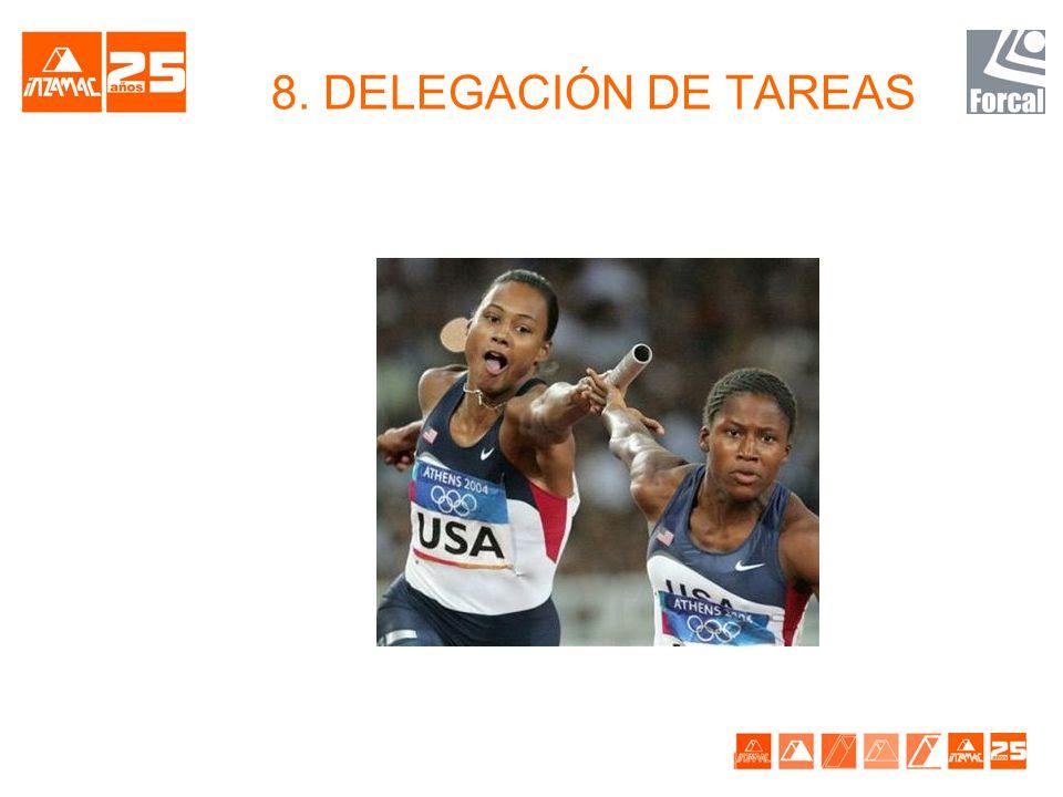 8. DELEGACIÓN DE TAREAS