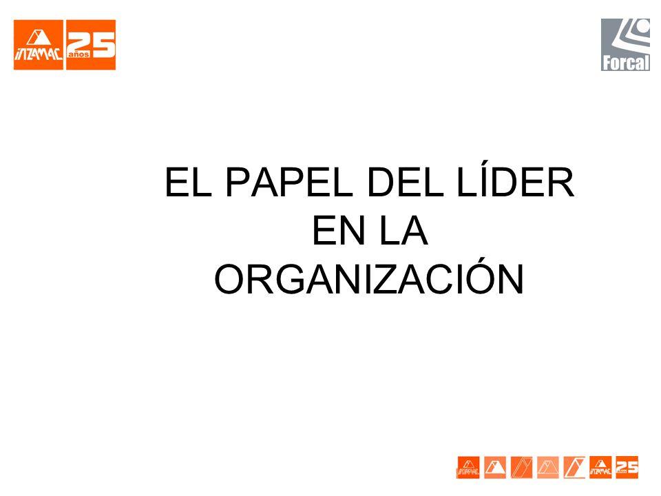 EL PAPEL DEL LÍDER EN LA ORGANIZACIÓN
