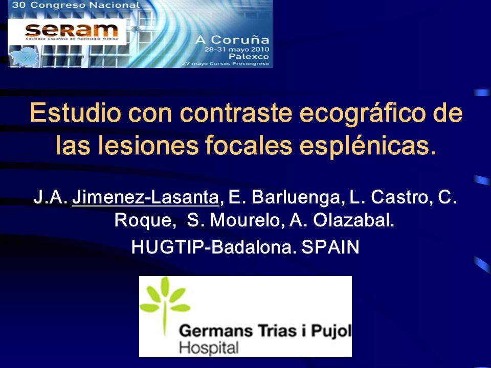 Estudio con contraste ecográfico de las lesiones focales esplénicas.