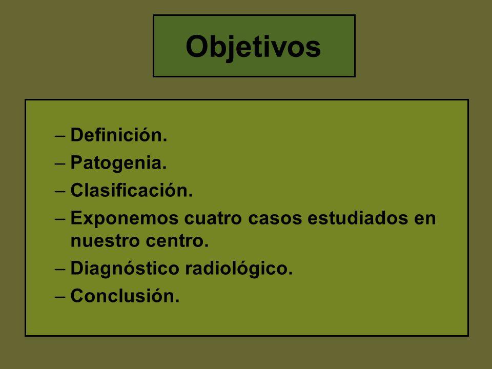Objetivos Definición. Patogenia. Clasificación.
