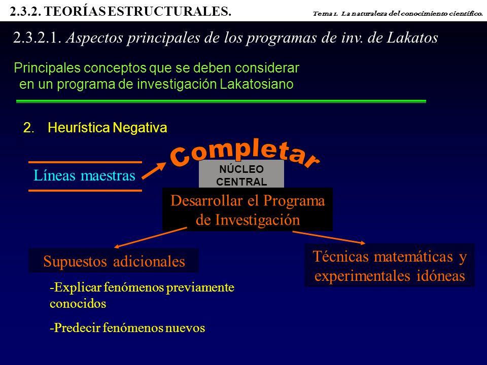 2. 3. 2. TEORÍAS ESTRUCTURALES. Tema 1