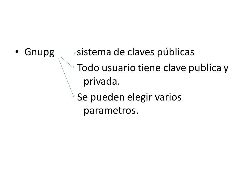 Gnupg sistema de claves públicas