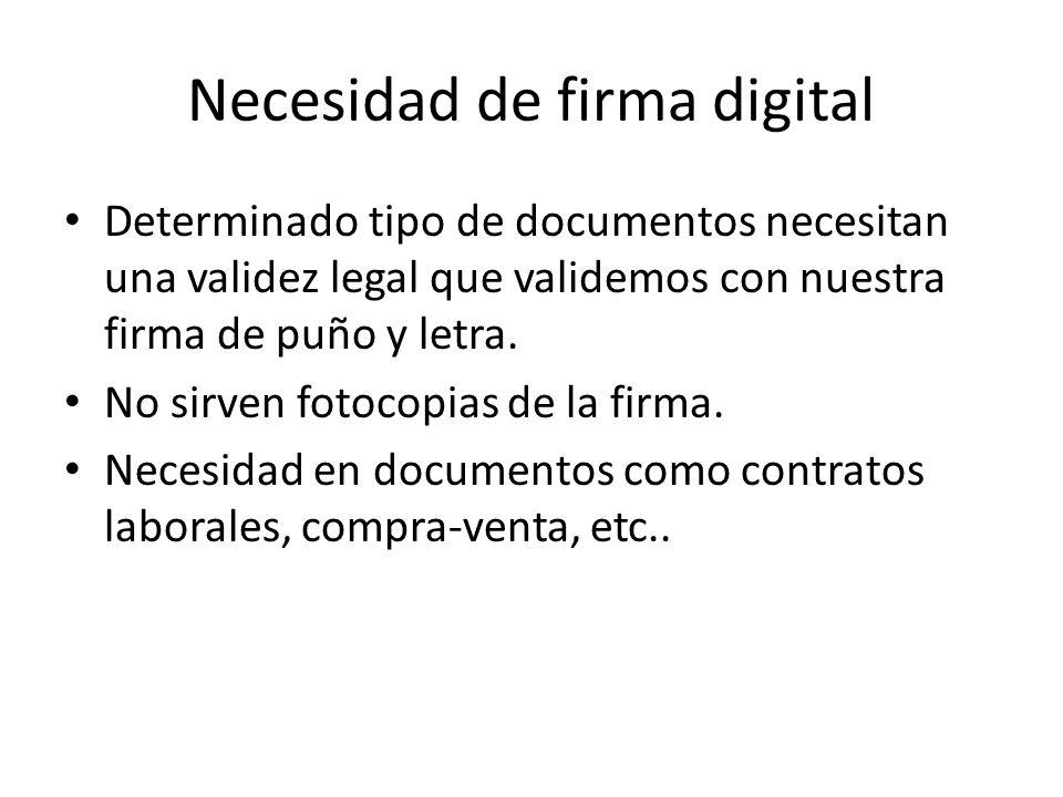 Necesidad de firma digital