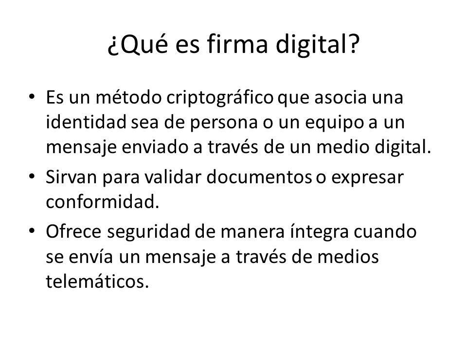 ¿Qué es firma digital