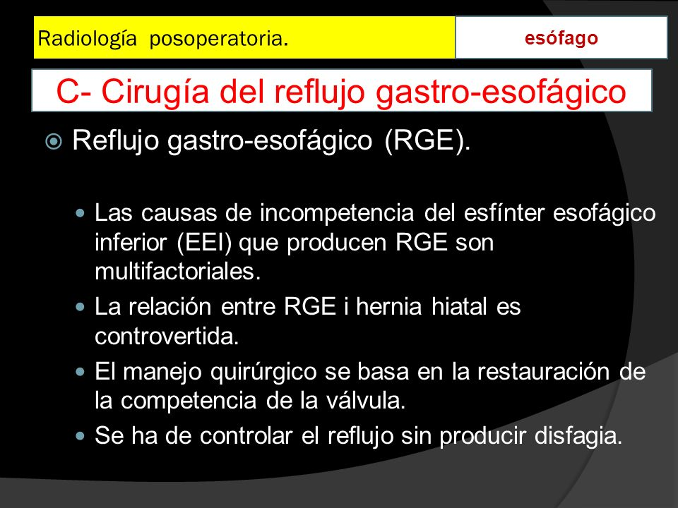 Radiología posoperatoria.
