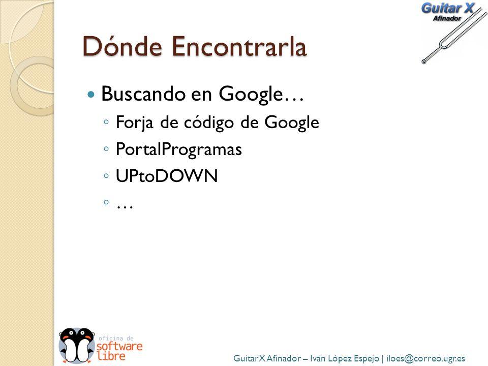 Dónde Encontrarla Buscando en Google… Forja de código de Google