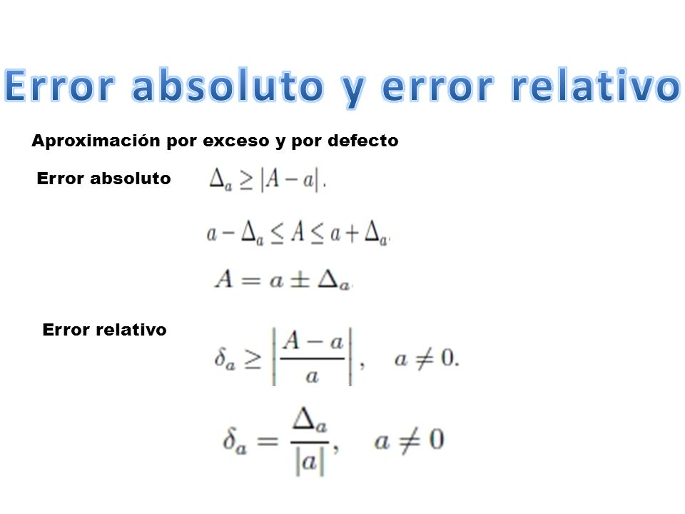Error absoluto y error relativo
