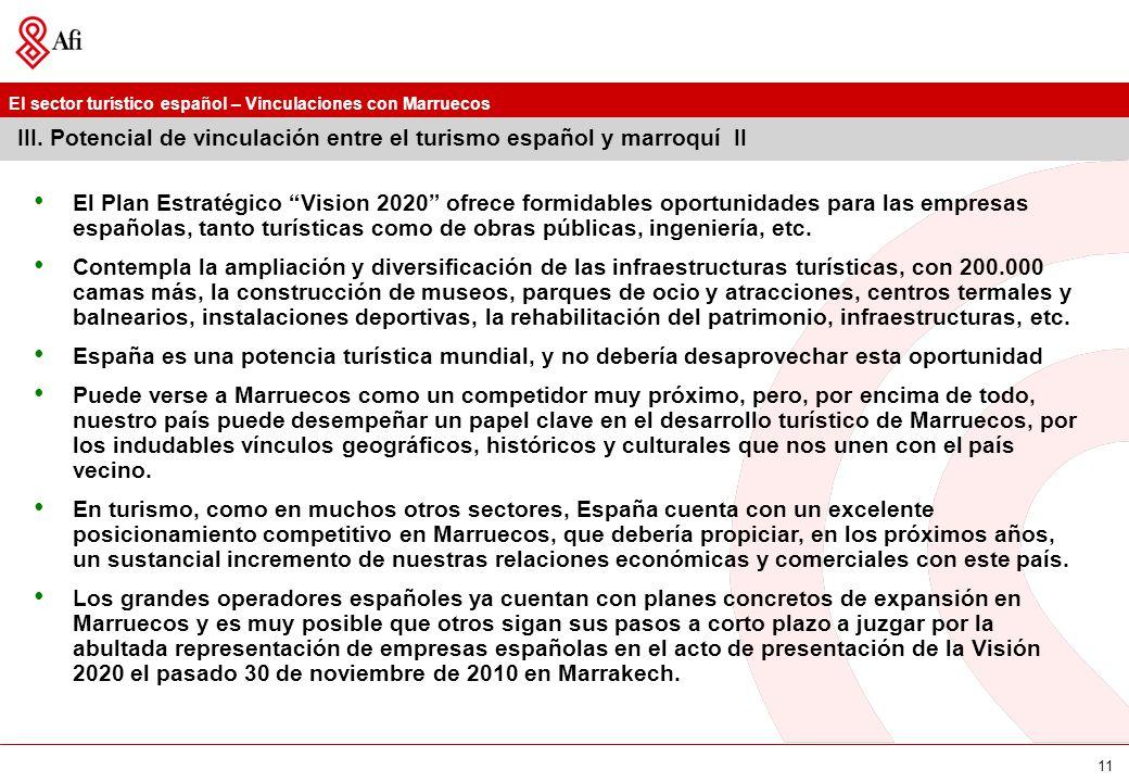 III. Potencial de vinculación entre el turismo español y marroquí II