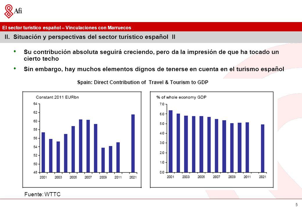 II. Situación y perspectivas del sector turístico español II