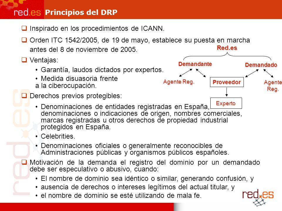 Inspirado en los procedimientos de ICANN.