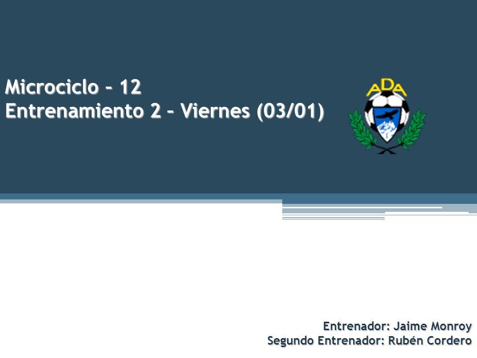 Microciclo – 12 Entrenamiento 2 – Viernes (03/01)