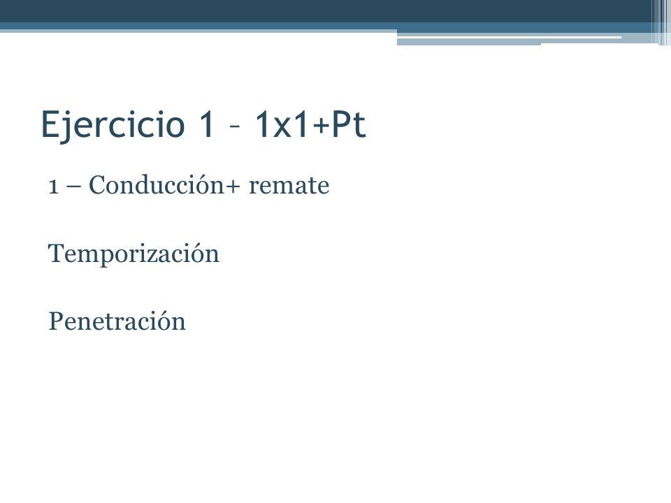 Ejercicio 1 – 1x1+Pt 1 – Conducción+ remate Temporización Penetración