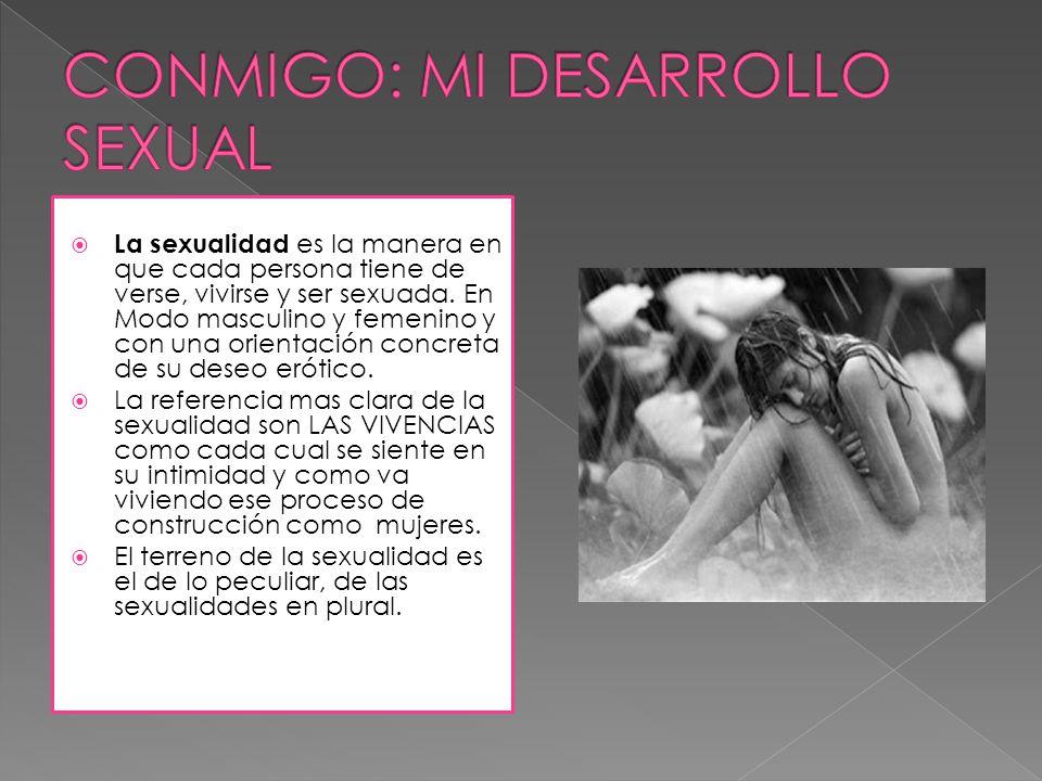 CONMIGO: MI DESARROLLO SEXUAL