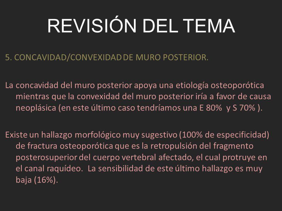 Revisión del tema 5. CONCAVIDAD/CONVEXIDAD DE MURO POSTERIOR.