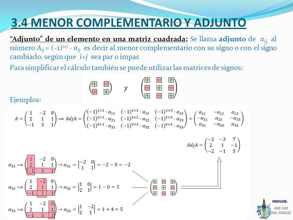 3.4 MENOR COMPLEMENTARIO Y ADJUNTO