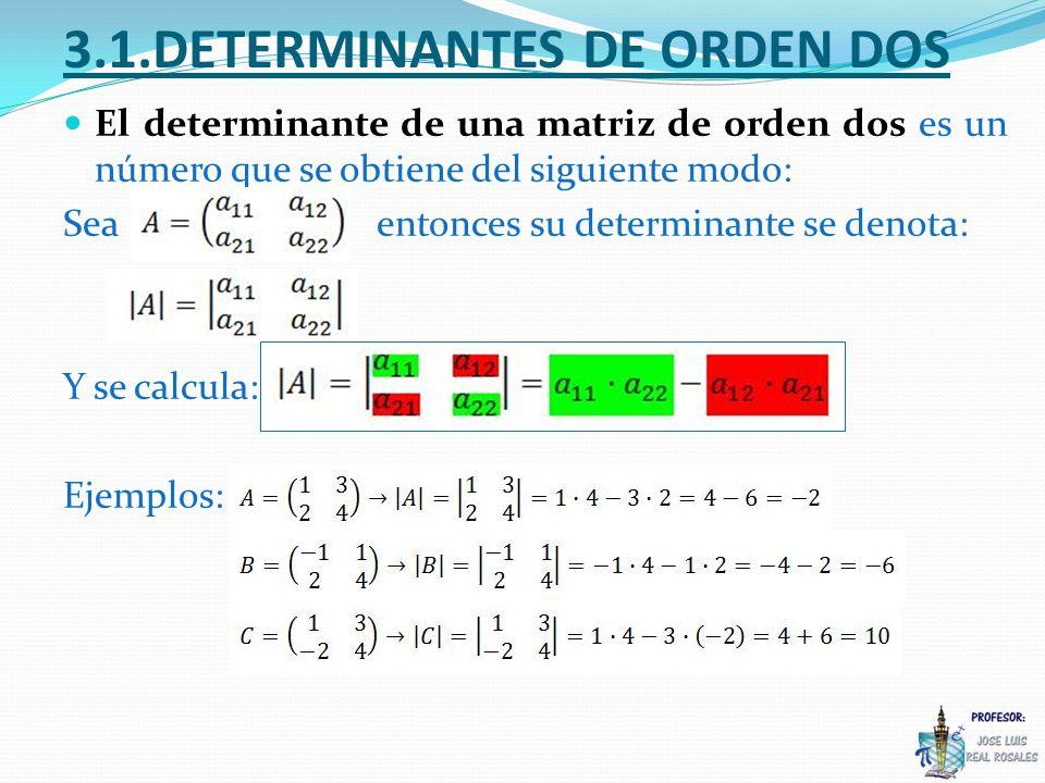 3.1.DETERMINANTES DE ORDEN DOS