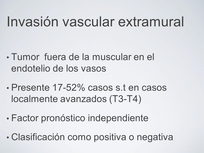 Invasión vascular extramural