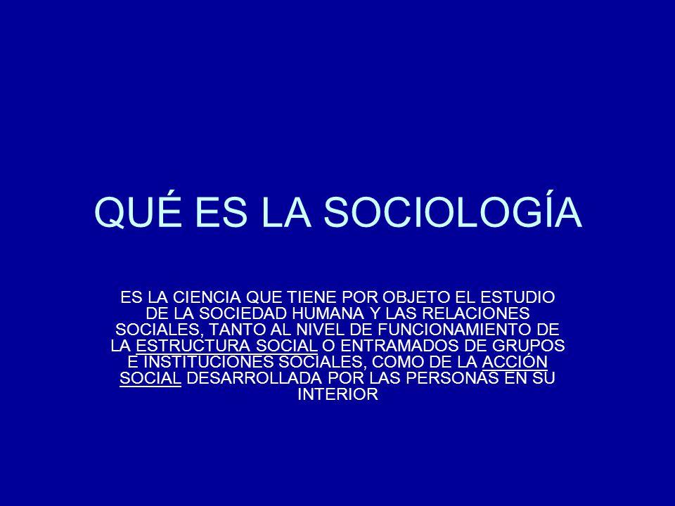 QUÉ ES LA SOCIOLOGÍA