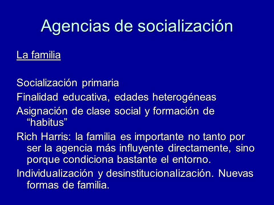 Agencias de socialización