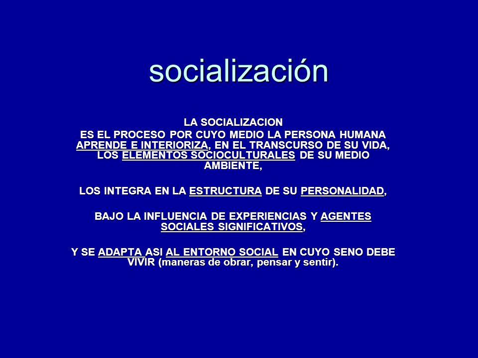 socialización LA SOCIALIZACION